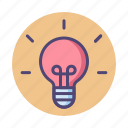 concept, idea, inspiration, light bulb, main, main idea icon
