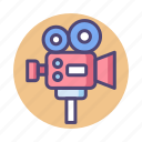 camera, film camera, filming, movie camera, professional, professional movie camera icon