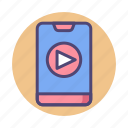 media player, multimedia, player, smartphone, smartphone player icon