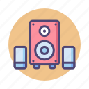 loudspeaker, music, sound system, speakers icon