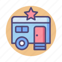 star, star trailer, trailer icon