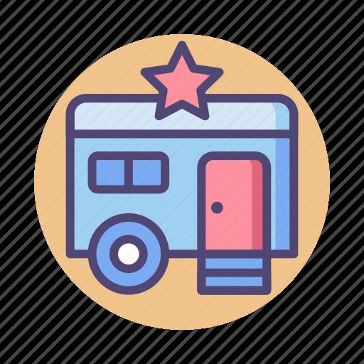 star, star trailer, trailer icon