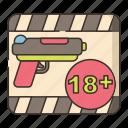 above, action, gun, movie icon