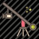 camera, crane, photography, video