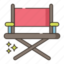 chair, directors, furniture, seat icon