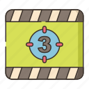 countdown, film, numbers, opening icon