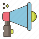 audio, loudspeaker, megaphone, sound icon