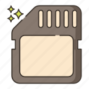 card, memory, movie, storage icon