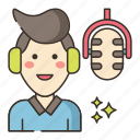 audio, person, speech, voiceover icon