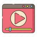 media, movie, video, youtube icon