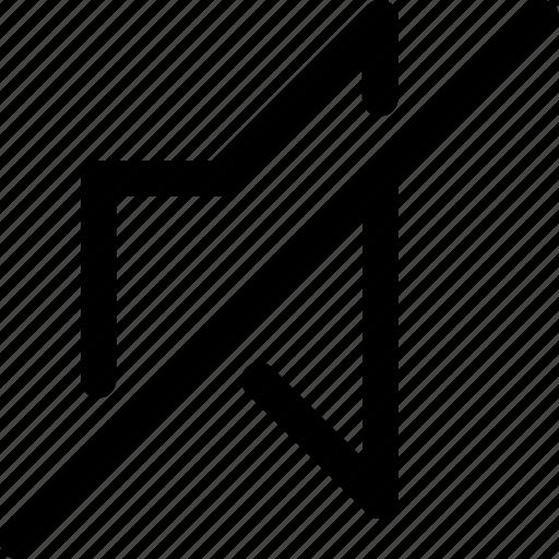 audio, music, mute, silence, speaker, video, volume icon