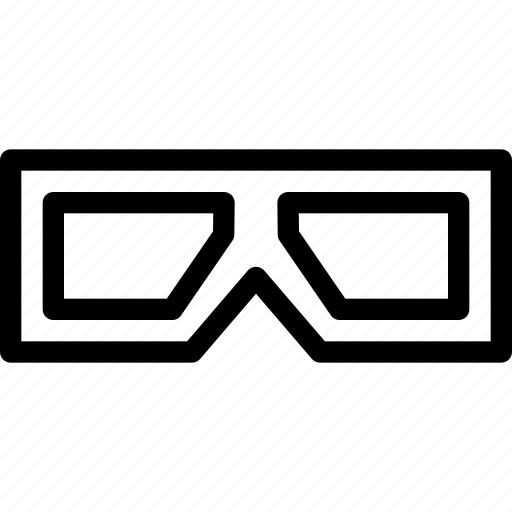 accessory, cinema, close, creative, dimension, eye-wear, eyeglasses, eyes, film, game, grid, monitor, movie, reality, shape, television, theater, three-d icon