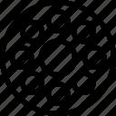 reel, cinema, circle, creative, film, grid, line, media, movie, roll, shape, store, strip, tape, copy icon