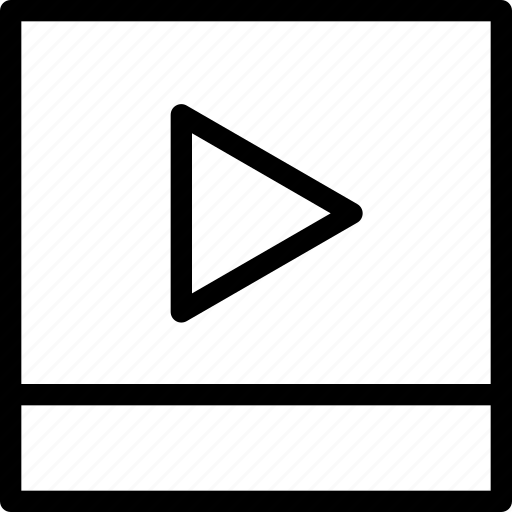 arrow, audio, camera, cinema, control, creative, film, grid, line, media, movie, multimedia, music, player, shape, video icon