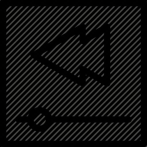 arrow, audio, box, camera, cinema, control, creative, film, grid, left, line, media, movie, multimedia, music, play-bar, player, round, shape, video icon