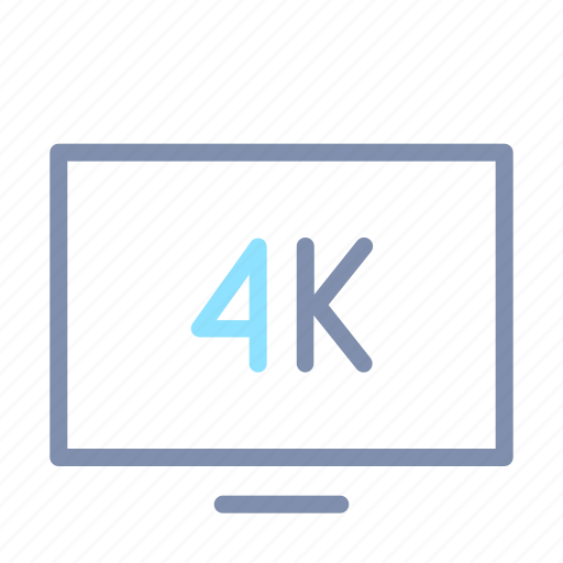 4k, image, quality, sharing, televisions, tv, video icon