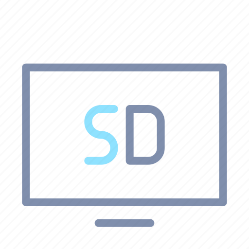 image, quality, sd, sharing, televisions, tv, video icon