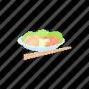 asian, cartoon, cuisine, dinner, food, seafood, thai icon