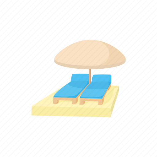 beach, cartoon, lounge, resort, straw, umbrella, vietnam icon