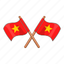 country, flag, national, vietnam icon