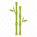 bamboo, green, nature, stem icon