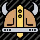 battle, helmet, horns, viking, warrior