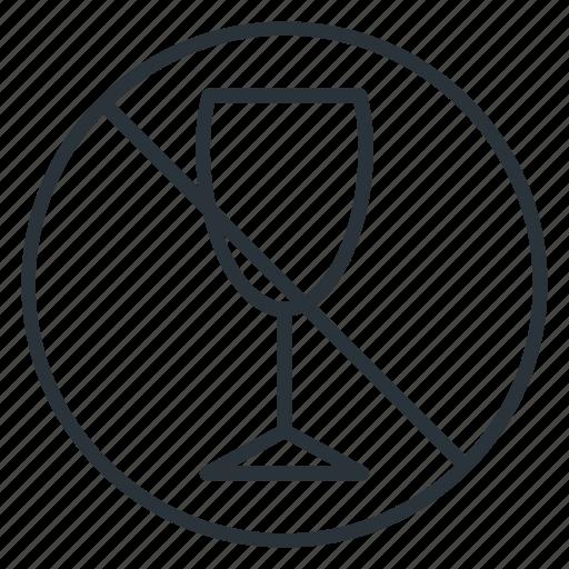 ban, no alcohol, no beverage, no drink, no drinking, viniculture, yummy icon