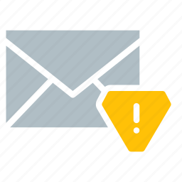 alert, email, envelope, send, warning icon