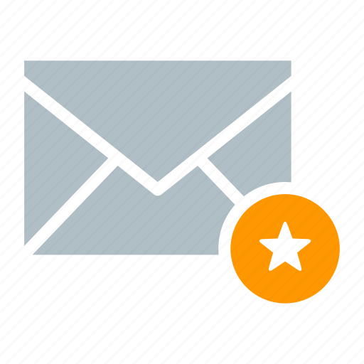 email, envelope, favorite, send, star icon