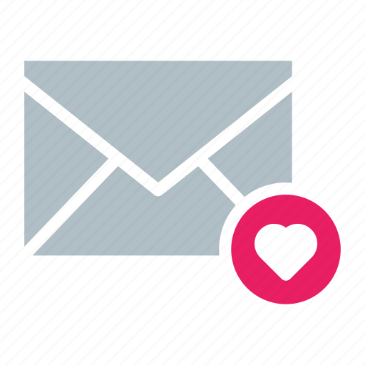 email, envelope, favorite, heart, send icon