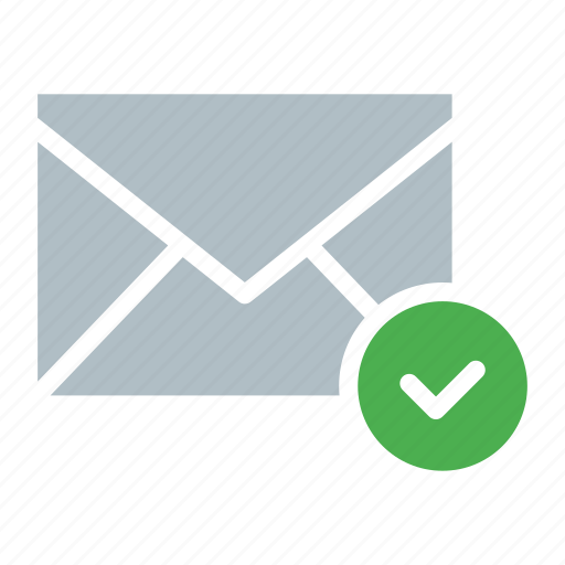 checkmark, done, email, envelope, send icon