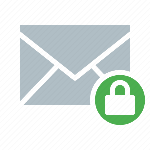 email, envelope, lock, secure, send icon