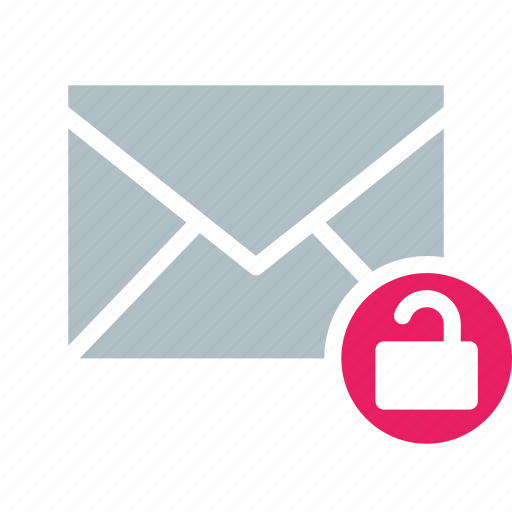 email, envelope, secure, send, unlock icon