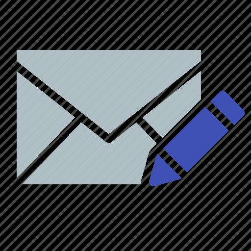 edit, email, envelope, pen, send, write icon