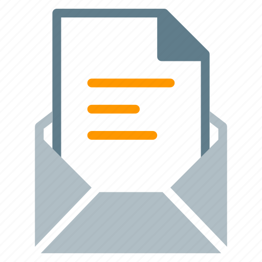 attachment, document, email, file, send, text icon