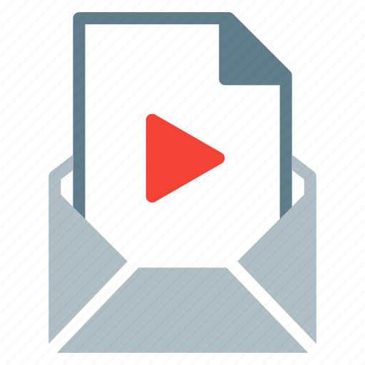 attachment, email, file, movie, send, video icon
