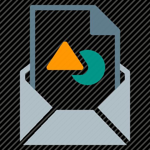 attachment, design, draw, email, file, send, shape icon