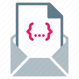 attachment, code, css, email, file, send icon