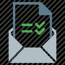attachment, checklist, email, file, send, task icon