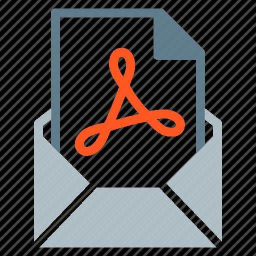 attachment, document, email, file, pdf, send icon