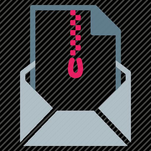 attachment, email, file, rar, send, zip icon