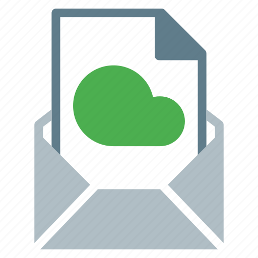 attachment, cloud, document, email, file, send icon