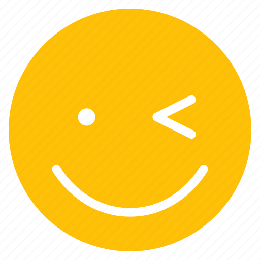 avatar, emoticon, emotion, face, happy, smile, wink icon