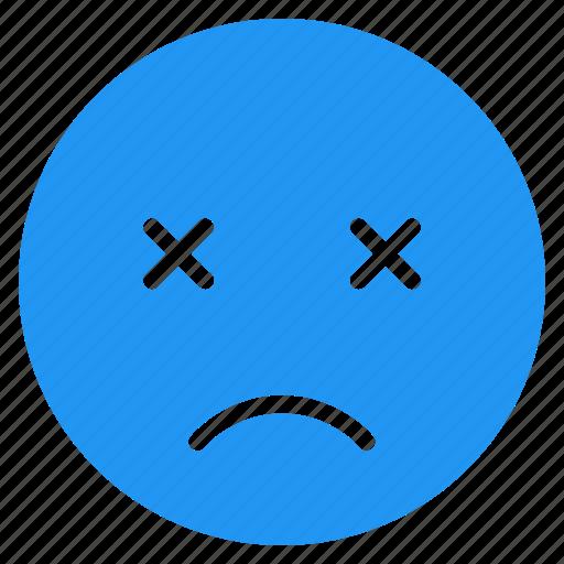 avatar, emoticon, emotion, expression, face, mood, sad icon