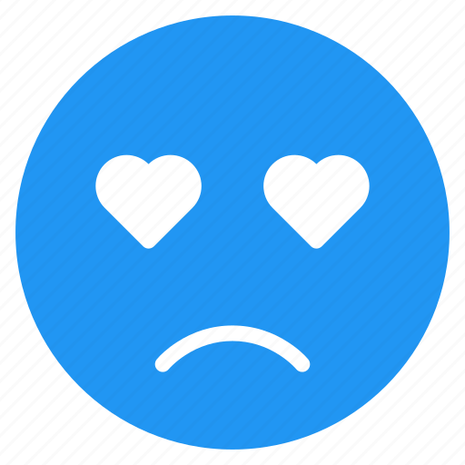 avatar, emoticon, emotion, expression, face, love, sad icon