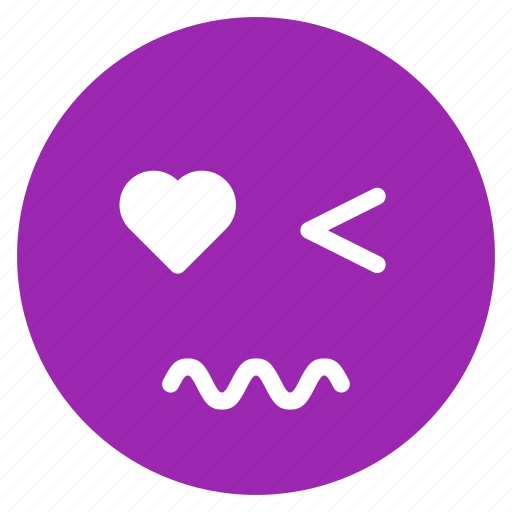 avatar, emoticon, emotion, expression, face, scared, wink icon