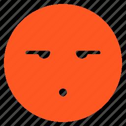 avatar, emoticon, emotion, expression, face, mood, speechless icon