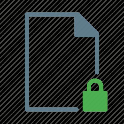 doc, document, file, lock, text icon