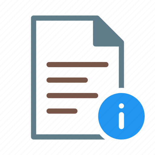 about, doc, document, file, info, text icon