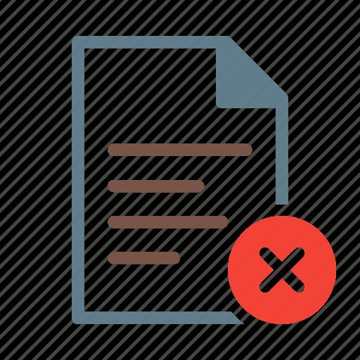delete, doc, document, file, remove, text icon